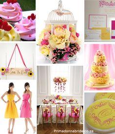 pink and yellow wedding inspiration