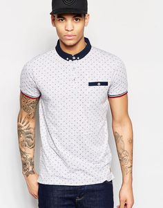 Brave+Soul+Small+Geo+Print+Polo+Shirt