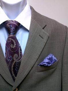 Italian made Bachrach 44R men's suit. Price $49.95