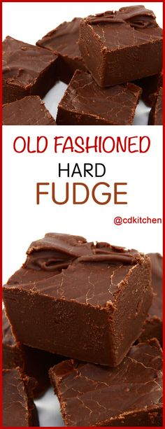 Old Fashioned Hard Fudge - Sink your teeth into this decadent fudgy treat and le. - Old Fashioned Hard Fudge – Sink your teeth into this decadent fudgy treat and let yourself be tra - Köstliche Desserts, Delicious Desserts, Dessert Recipes, Healthy Desserts, Easy Chocolate Fudge, Chocolate Recipes, Chocolate Tarts, Hershey Cocoa Fudge, Hot Chocolate