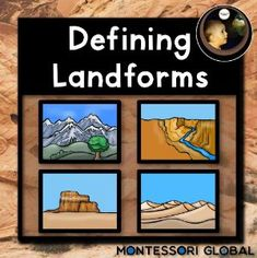 Boom Cards - Montessori - Defining Land Forms - Level 2 Land Forms, Rocky Shore, Student Learning, Montessori, Cards, Maps, Playing Cards