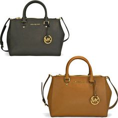 Buy Michael Kors Sutton Saffiano Leather Medium Satchel Handbag  Several Styles