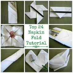 How to Fold Dinner Napkins - Napkin Folding Guide   Enhance your dining experience by decorating your table with beautifully folded cotton and linen dinner napkins. At Bumblebee Linens, we are committed to teaching you how to make the most out of your table linens. By following our napkin folding tutorials, you can quickly and easily make your place settings look extra special.