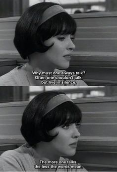 "Anna Karina, ""Vivre Sa Vie"" by Jean-Luc Godard Cinema Quotes, Film Quotes, Lou Le Film, Jean Luc Godard, Movie Lines, Quote Aesthetic, Film Stills, Mood Quotes, Classic Hollywood"
