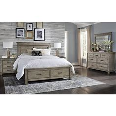 A-America Furniture Glacier Point Queen Storage Bed in Greystone GLPGR5031 CODE:UNIV20 for 20% Off - Storage Beds - Beds Storage Bed Queen, Bed Frame With Storage, Bed Storage, Bedroom Storage, Bedroom Furniture Sets, Bedroom Sets, Home Decor Bedroom, Design Bedroom, Master Bedroom