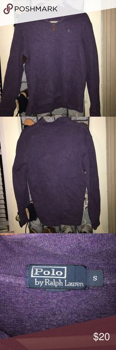 Men's Polo Pull Over men's purple polo pull over; size small Polo by Ralph Lauren Jackets & Coats