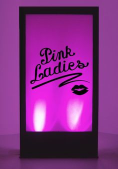 Grease Pink Ladies Silhouette Panel