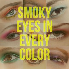 12 Stunning Candy-Colored Smoky Eyes to Try Now