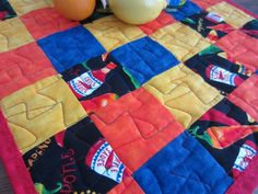 Up close of the Crazee Zigging Quilting.