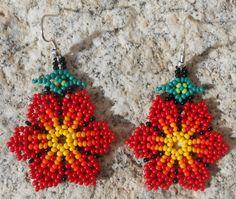 Handmade Rosie Red Floral Flower Petal by MiCasitaDeChaquira