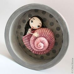 Paper Mache Crafts, Doll Crafts, Ooak Dolls, Art Dolls, Polymer Clay Dolls, Illustration, Paperclay, Doll Maker, Box Art