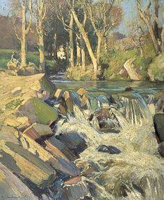 Samuel John Lamorna Birch  - The Stream in My Garden