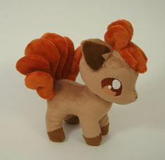 A pokemon plush not related to the eevee family? Anyway, here is a little Vulpix plushie, made for This plushie is about tall, made of minky, and the eyes are machine embr. Pokemon Dolls, Pokemon Craft, Pokemon Plush, Cute Pokemon, Plushie Patterns, Softie Pattern, Pokemon Birthday, Pokemon Party, Kawaii Plush