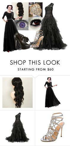 """""""Untitled #528"""" by creepypasta-music-anime-love ❤ liked on Polyvore featuring Marchesa, Sergio Rossi and Charlotte Olympia"""