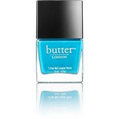 Henri Bendel Butter London Nail Lacquer In Keks Neon Blue Nails, Blue Nail Polish, Beauty Tips And Secrets, London Nails, Beauty Must Haves, Butter London, Mani Pedi, Skin Makeup, Pretty Nails