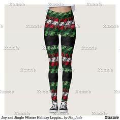 Joy and Jingle Winter Holiday Leggings