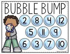 FREE Bubble Bump math game! Perfect summer themed math activity and great for a math station!