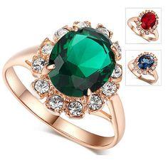 Flexível cor da pedra do anel anel de jóias indiano