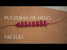 pulsera de hilos con flores en macrame | friendships bracelets tutorial - YouTube
