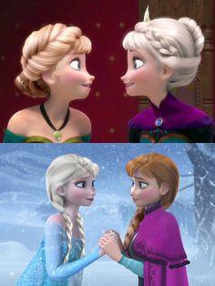 Anna as Elsa and Elsa as Anna