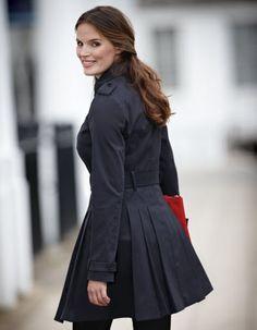 Really Curvy Full Skirt Trench Coat by Pepperberry.