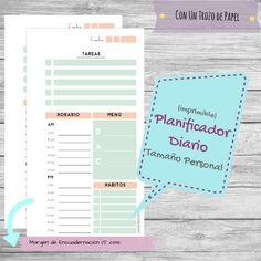 Planificador Diario Tamaño Personal para Imprimir