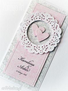 • wyjątkowe scrapbooking kartki, akcesoria - kartka ślubna