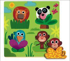 #Puzzle #Junglanimo by #Djeco from www.kidsdinge.com https://www.facebook.com/pages/kidsdingecom-Origineel-speelgoed-hebbedingen-voor-hippe-kids/160122710686387?sk=wall