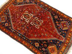 Maison de ventes aux enchères en ligne Catawiki: Shiraz semi-antique – 186 x 112cm – «Tapis persan coloré, 100% laine, en parfait état» – Veuillez noter! Pas de prix de réserve, prix de départ à 1 €.