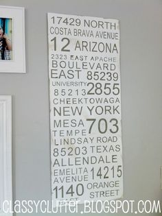could do this with all the addresses i have lived at