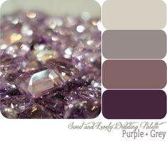 My wedding colors - Eggplant / Purple and Grey (gray) /Platinum /Charcoal