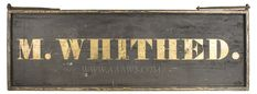 Antique Trade Sign, Vermont Inn, M. Whithed, side 1 view