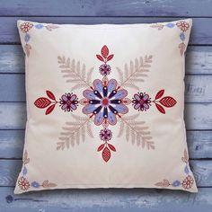 folk flowers cushion by hipster spinster | notonthehighstreet.com