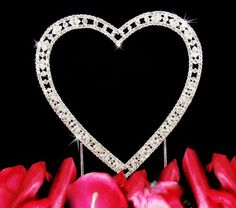 Vintage Swarovski Crystal Single Heart Wedding Cake Topper *** Click image for more details.-It is an affiliate link to Amazon.