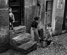 2000 Light Years From Home...........Werner Bischof  ITALY. Liguria region. Genoa. 1983.