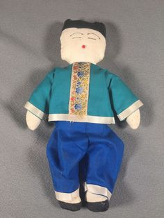 Chinese Cloth Doll Male 8 Inches #doll