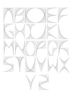 Digital Curve Stitch Typeface, via Flickr.