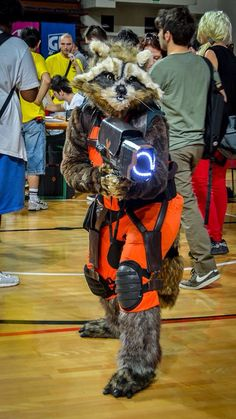 One of the coolest Rocket Raccoon costumes I've ever spotted in an internet search.