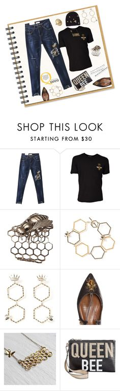 """Bee Beanie"" by yvonnewarren ❤ liked on Polyvore featuring WithChic, Dolce&Gabbana, Bernard Delettrez, Alison Lou, Aquazzura, Circus by Sam Edelman and Gia Belloni"