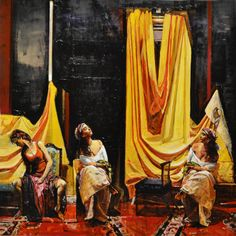 "Saatchi Online Artist: Marco Ortolan; Oil 2013 Painting ""The rest of the gypsies"""