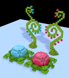 Magical flowers - Minecraft World Minecraft Cottage, Cute Minecraft Houses, Mine Minecraft, Minecraft Room, Minecraft Plans, Minecraft City, Minecraft House Designs, Amazing Minecraft, Minecraft Construction