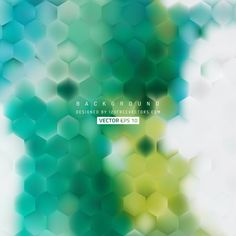 Green Turquoise Hexagon Background #freevectors