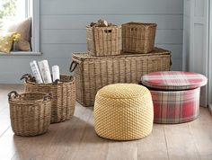 Storage no longer has to be dull..! opt for a these willow cubes to make storage a statement in your country home.
