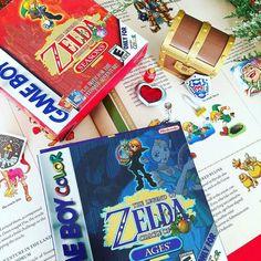 Oldskool zelda collection!!! With @eidrianhideki The Legend of Zelda Oracle of Seasons & Oracle of Ages #zelda #nintendo #ninstagram