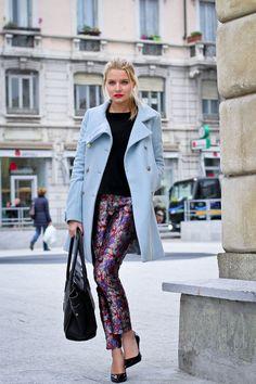 light blue coat - The Fashion Fruit