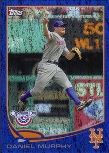 2013 Topps Opening Day Blue #95 Daniel Murphy/2013 by Topps Opening Day. $2.50. 2013 Topps Co. trading card in near mint condition, authenticated by Seller