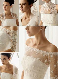 Diverse lace looks.