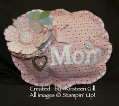 Mom Pin Cushion: Twitterpated Fabric, Mixed Bunch Stamp Set