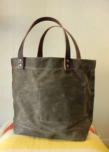 Strawfoot Handmade — Waxed Canvas Tote Bag- Marsh Brown ($100-200) - Svpply