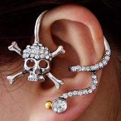 Skull & Crossbones Ear Wrap